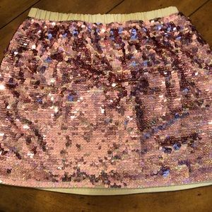 Crew cuts size 10 sequin skirt and collection tee.